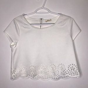 Urban outfitters Pins and Needles eyelet crop top